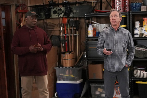LAST MAN STANDING: L-R: Jonathan Adams and Tim Allen in Keep On Truckin, Part Two of the two-part se