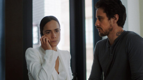 """QUEEN OF THE SOUTH -- """"Prueba de Balas"""" Episode 509 -- Pictured in this screengrab: (l-r) -- (Photo"""